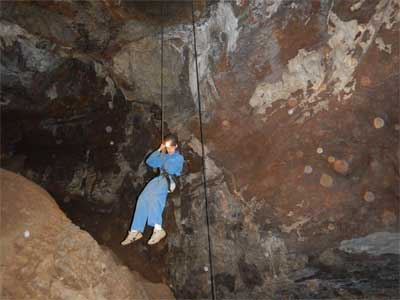 Abseiling into Bat Cave